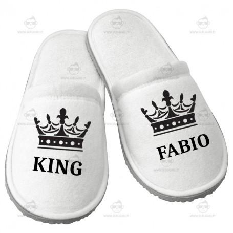 Pantofola King Personalizzata