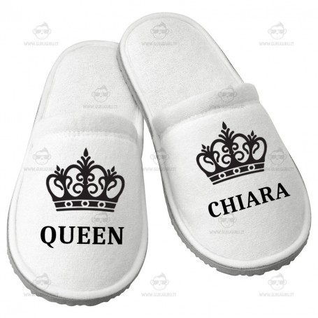 Pantofola Queen Personalizzata
