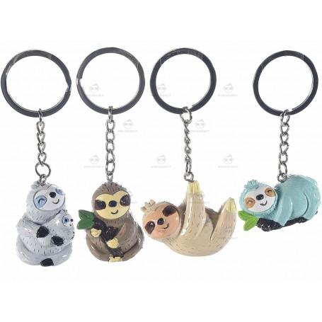 Famiglia di bradipini portachiavi
