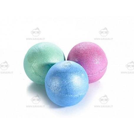 Set da 3 sfere da bagno metallizzate